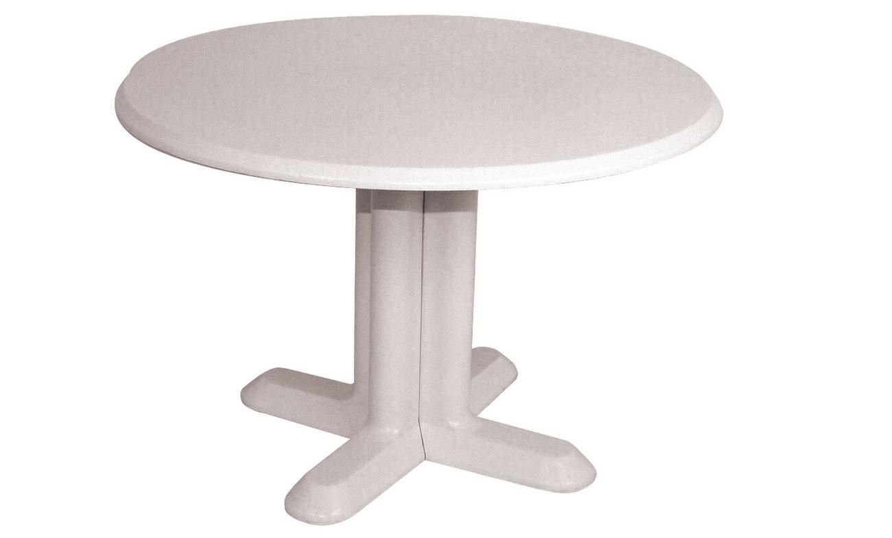 table stratifi e pied plastique mobilier de jardin meuble design int rieur ext rieur. Black Bedroom Furniture Sets. Home Design Ideas