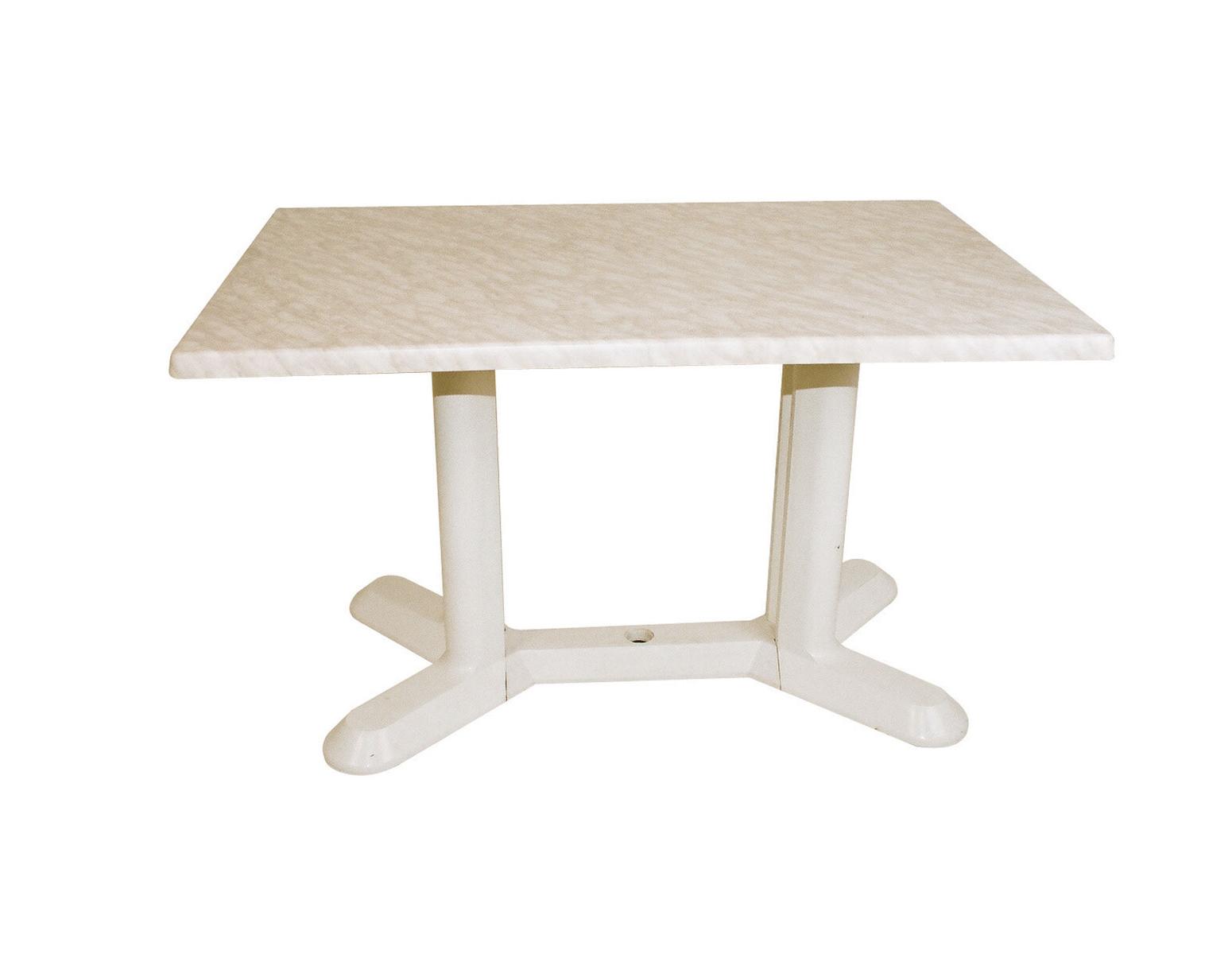 Table stratifi e pied plastique mobilier de jardin for Table exterieur hyper u