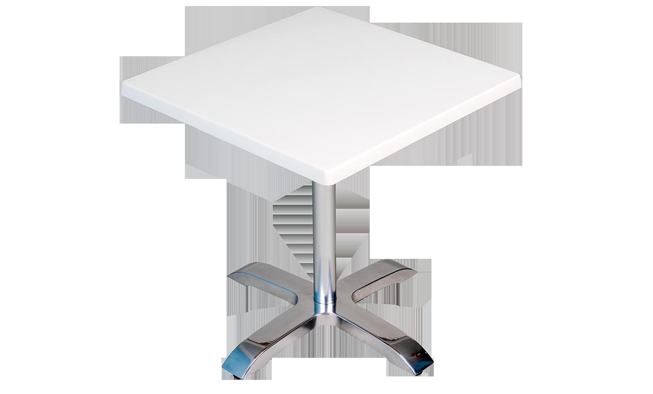 Table stratifi e pied en aluminium s615 mobilier de for Table th tbody