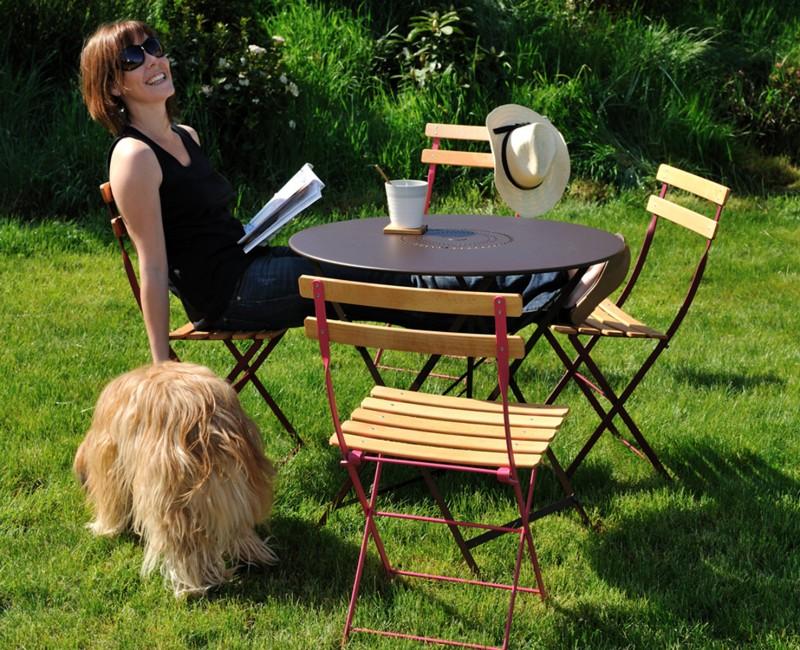 Chaise pliable Naturelle Nancy