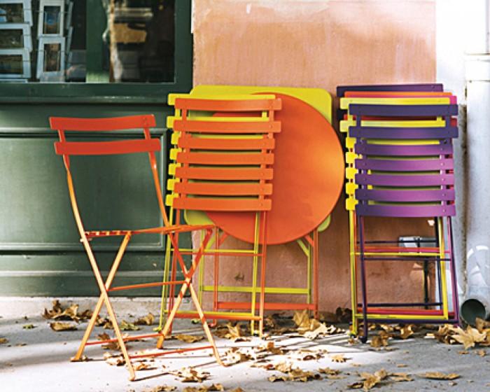 Chaise pliable en m tal paris mobilier de jardin meuble for Chaise pliable design