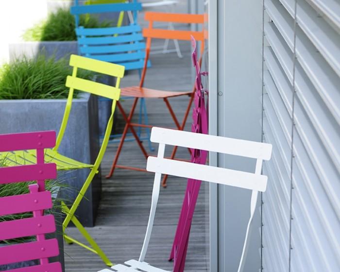 Chaise pliable en Métal Paris - Mobilier de jardin Meuble design ...