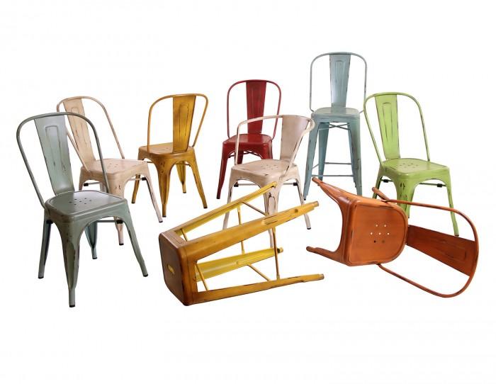 CHAISE TOLIX VINTAGE - Mobilier de jardin Meuble design ...