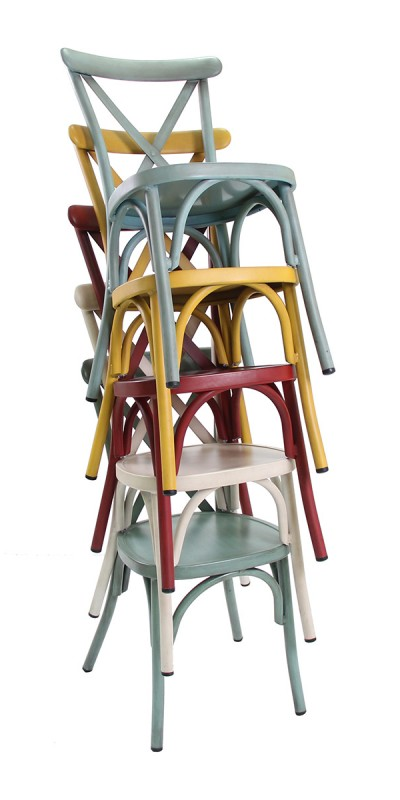 MULTICOLOR CROSS CHAIR